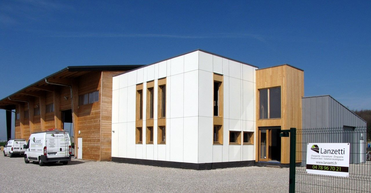 Construction d ateliers et de bureaux en ossature bois en rhône